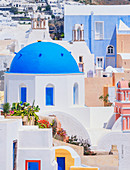 Oia village view, Oia, Santorini, Cyclades Islands, Greek Islands, Greece, Europe