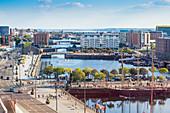View of Albert Docks, Liverpool, Merseyside, England, United Kingdom, Europe