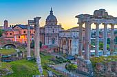 Church of Santi Luca e Martina and Septimius Severus Arch (Arco di Settimio Severo), Forum, UNESCO World Heritage Site, Rome, Lazio, Italy, Europe