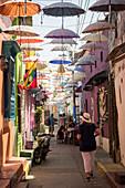 Street scene, Getsemani Barrio, Cartagena, Bolivar Department, Colombia, South America