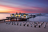 Pier, Sellin, Ruegen, Baltic Sea, Mecklenburg-Western Pomerania, Germany