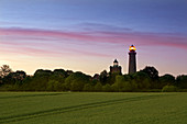 Old and new lighthouse at Cape Arkona, Ruegen, Baltic Sea, Mecklenburg-Western Pomerania, Germany