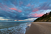 Beach near Bansin, Usedom, Baltic Sea, Mecklenburg-Western Pomerania, Germany
