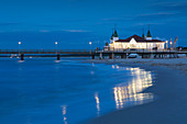 Pier on the beach of Ahlbeck, Usedom, Baltic Sea, Mecklenburg-Western Pomerania, Germany