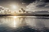 Morgenstimmung im Nationalpark Wattenmeer, Spiekeroog, Ostfriesland, Niedersachsen, Deutschland, Europa