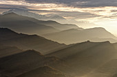 First rays of sun at Lamjunghimal, Pokhara, Nepal, Himalayas, Asia.