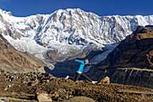 Annapurna Südwand vom Annapurna Base Camp, Nepal, Himalaya, Asien.
