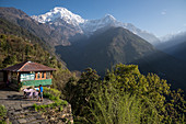 In the village of Chomrong, Nepal, Himalayas, Asia.