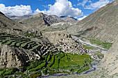 Abgelegenes Trekkingziel: Das Dorf Phu, Nepal, Himalaya, Asien.