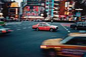 Taxi in Shibuya, Tokio, Japan, Asien
