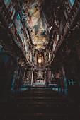 Interior shot of the Asamkirche, Munich, Germany