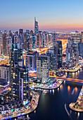 View over the Dubai Marina to Almas Tower, Dubai, United Arab Emirates