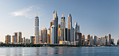 View to Dubai Marina from The Palm Jumeirah, Dubai, United Arab Emirates