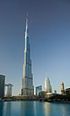 Downtown Dubai, Burj Khalifa, Burj Lake, Dubai, United Arab Emirates