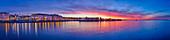 Old port after sunset, panorama, Trieste, Friuli-Venezia Giulia, Italy