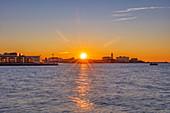 Old port at sunset, Trieste, Friuli-Venezia Giulia, Italy