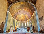 Altarraum in der Kathedrale San Giusto, Triest, Friaul-Julisch Venetien, Italien