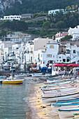 Fishing boats in the Marina Grande in Capri, Italy