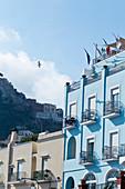 Colourful houses in the Marina Grande of Capri, Italy