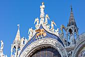 """Facade of St. Mark's Basilica """"San Marco"""" in Venice, Veneto, Italy"""