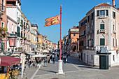 Via Giuseppe Garibaldi in Venice, Veneto, Italy