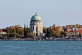 The votive temple on Lido island in Venice, Veneto, Italy