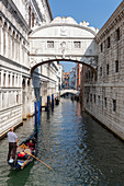The Bridge of Sighs in Venice, Veneto, Italy