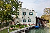 Restaurant (Osteria Al Ponte) on Torcello in the Venetian Lagoon, Veneto, Italy