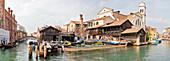 Squero di San Trovaso gondola shipyard, Dorsoduro in Venice, panorama, Veneto, Italy