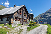Alp Surenen hut and lift on the Fürenalp, Stäuber, Engelberg, Switzerland