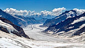 Jungfraujoch, Aletsch Glacier from above, Valais, Switzerland