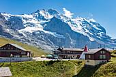 Kleine Scheidegg with Jungfrau in the background, Bernese Oberland, Switzerland