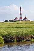 Westerheversand lighthouse, Wadden Sea National Park, Schleswig-Holstein, Germany