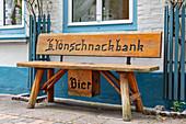 Klönschnackbank in Friedrichstadt, Schleswig-Holstein, Germany