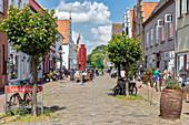 Prinzenstrasse in Friedrichstadt, Schleswig-Holstein, Germany