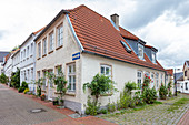 House in the old town, Schleswig, Schleswig-Holstein, Germany