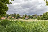 Feld neben dem Barockgarten, Schleswig, Schleswig-Holstein, Deutschland