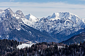 View from Winklmoos-Alm towards Wildalm in Austria, Bavaria, Germany