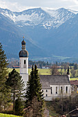 St. Andreas Church in Elbach, Bavaria, Germany