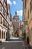 White Tower (city gate) in Rothenburg ob der Tauber, Middle Franconia, Bavaria, Germany