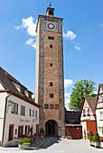 Castle gate in Rothenburg ob der Tauber, Middle Franconia, Bavaria, Germany