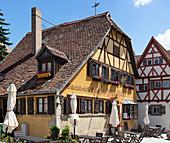 Medieval drinking room zur Höll in Rothenburg ob der Tauber, Middle Franconia, Bavaria, Germany