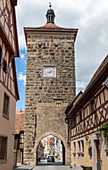 Sieberstor in Rothenburg ob der Tauber, Middle Franconia, Bavaria, Germany