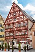 German House in Dinkelsbühl, Middle Franconia, Bavaria, Germany