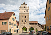 Nördlinger Tor in Dinkelsbühl from the inside, Middle Franconia, Bavaria, Germany