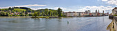 View from Donauleiten on Passau, Inn, Danube, Panorama, Bavaria, Germany
