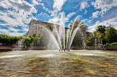 Fountain at Ulrichplatz in Magdeburg, Saxony-Anhalt, Germany