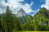 View of the Geiselstein, halhlch, Ammergau Alps, Bavaria, Germany