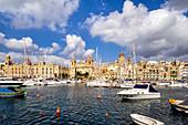 View from Vittoriosa to Kalkara, Malta, Mediterranean, Europe