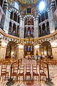 Splendid interior, Aachen Cathedral, UNESCO World Heritage Site, Aachen, North Rhine-Westphalia, Germany, Europe